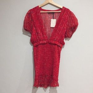 a69b5f9079021 Free People Dresses - NEW FREE PEOPLE Baby Love Smocked Bodycon Dress